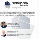 """ACIA Anápolis   """"Reunião Extraordinária"""""""